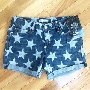 Love Indigo | Denim Shorts with White Stars